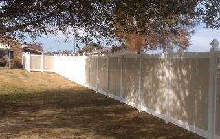 installing vinyl fence posts without concrete